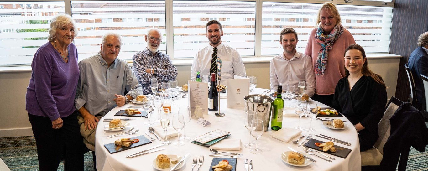 Enjoy hospitality with The Players' Table package at Franklin's Gardens.