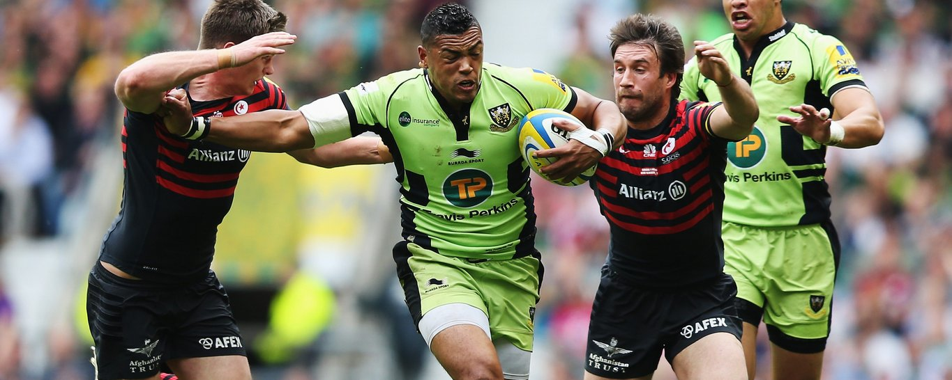 Luther Burrell carries in the midfield