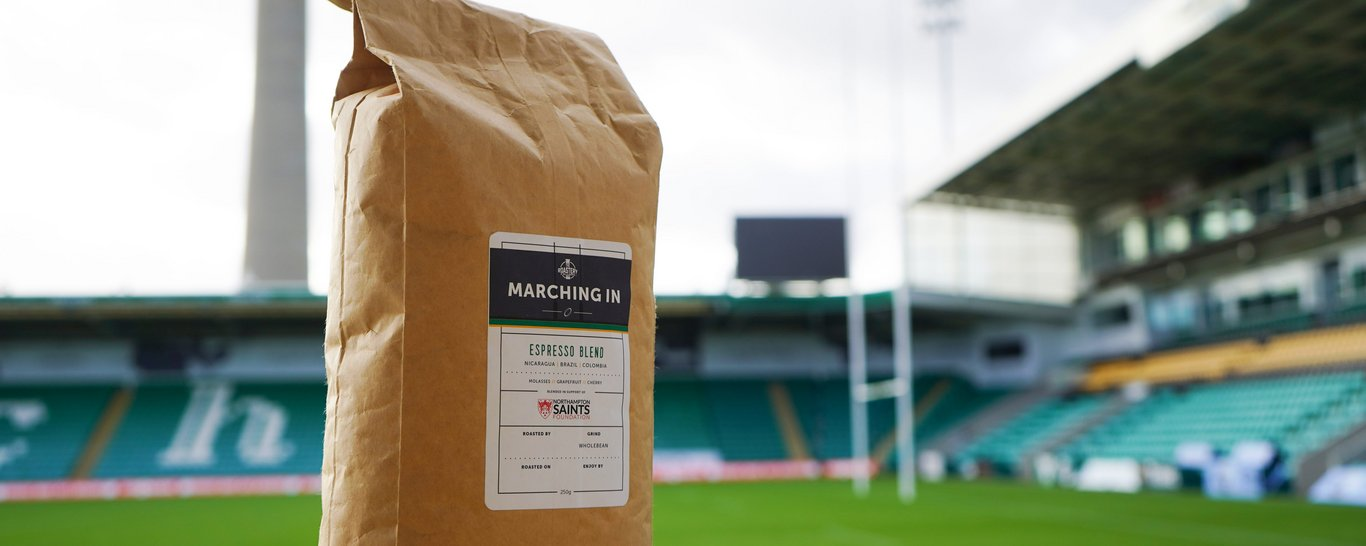 The Roastery are a long-time supporter of Northampton Saints Foundation