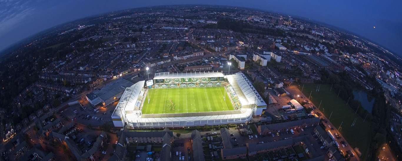 An Aerial view of Franklin's Gardens