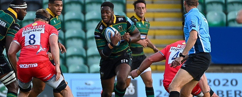 Northampton Saints' Manny Iyogun