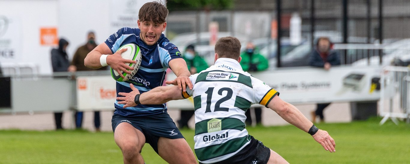 Saints' Ethan Grayson carries for Bedford Blues