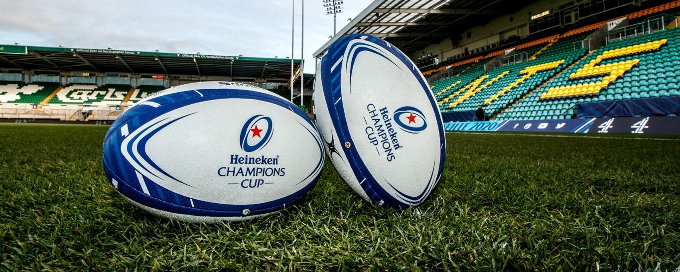 Champions Cup balls at Franklin's Gardens