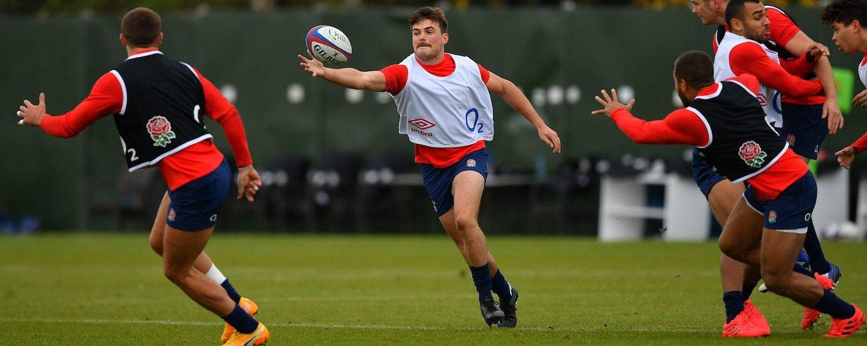 George Furbank of Northampton Saints trains with England