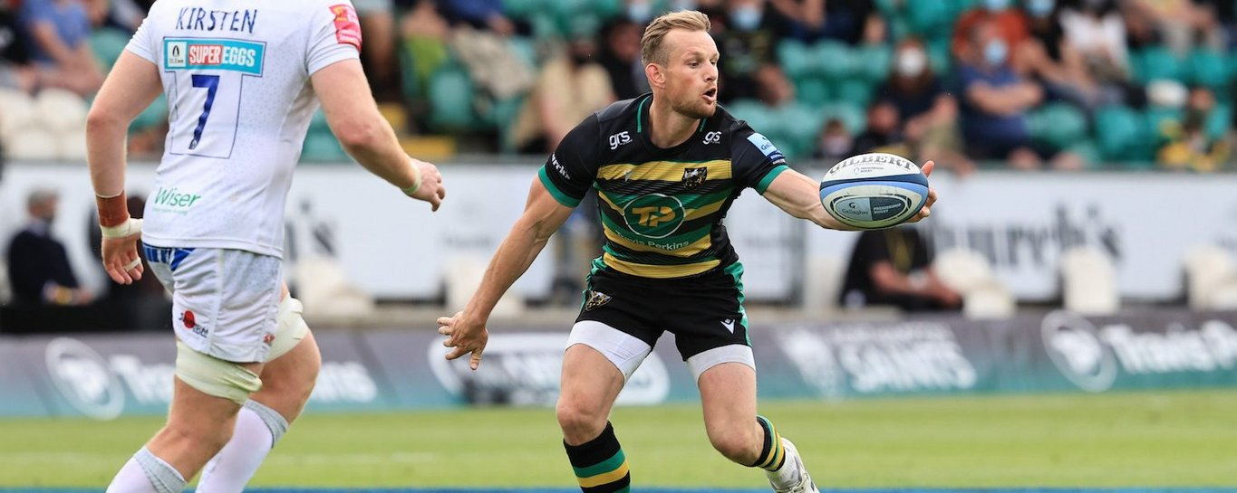 Rory Hutchinson in action for Northampton Saints again Exeter