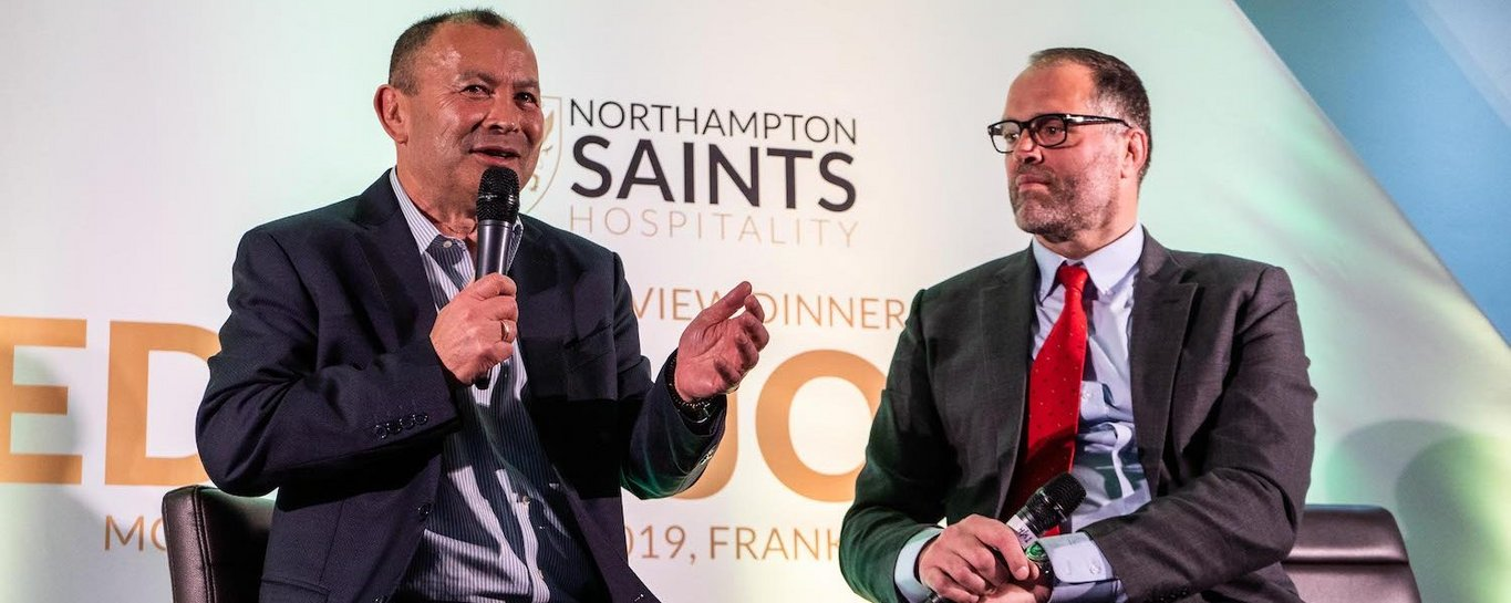 Eddie Jones will be the guest of honour at Franklin's Gardens