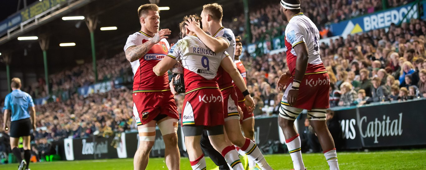 Saints celebrated another win at Welford Road