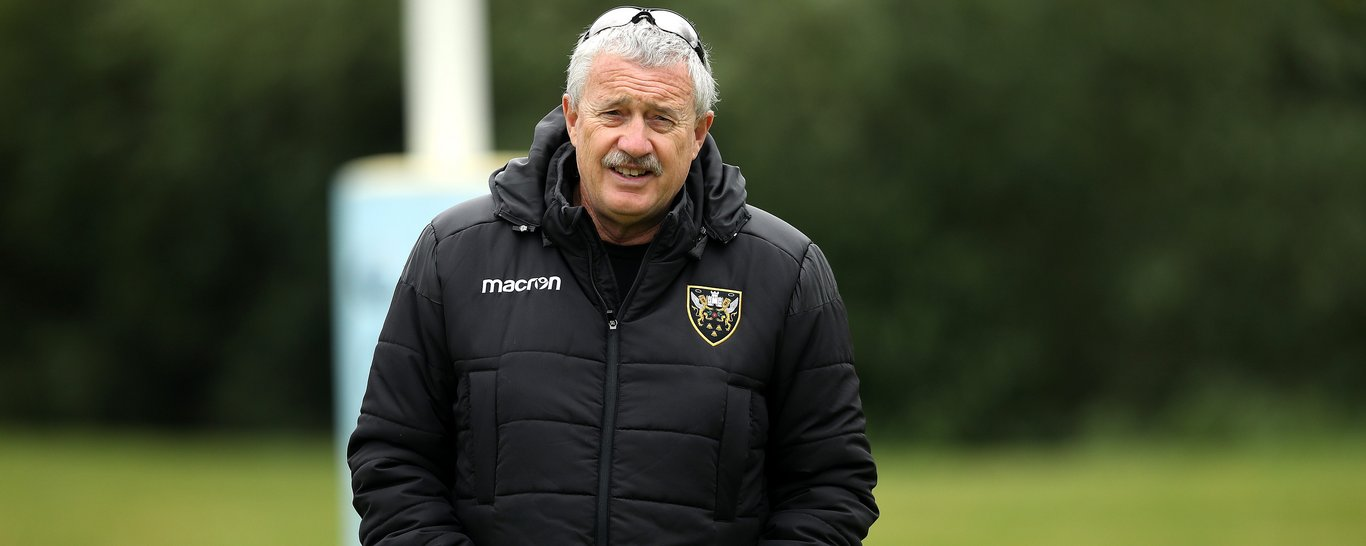 Chris Boyd watches training at Franklin's Gardens
