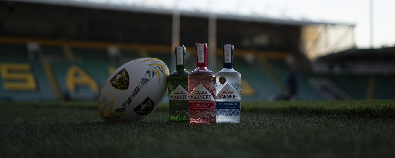 Warner's Distillery have become one of Northampton Saints' Partners