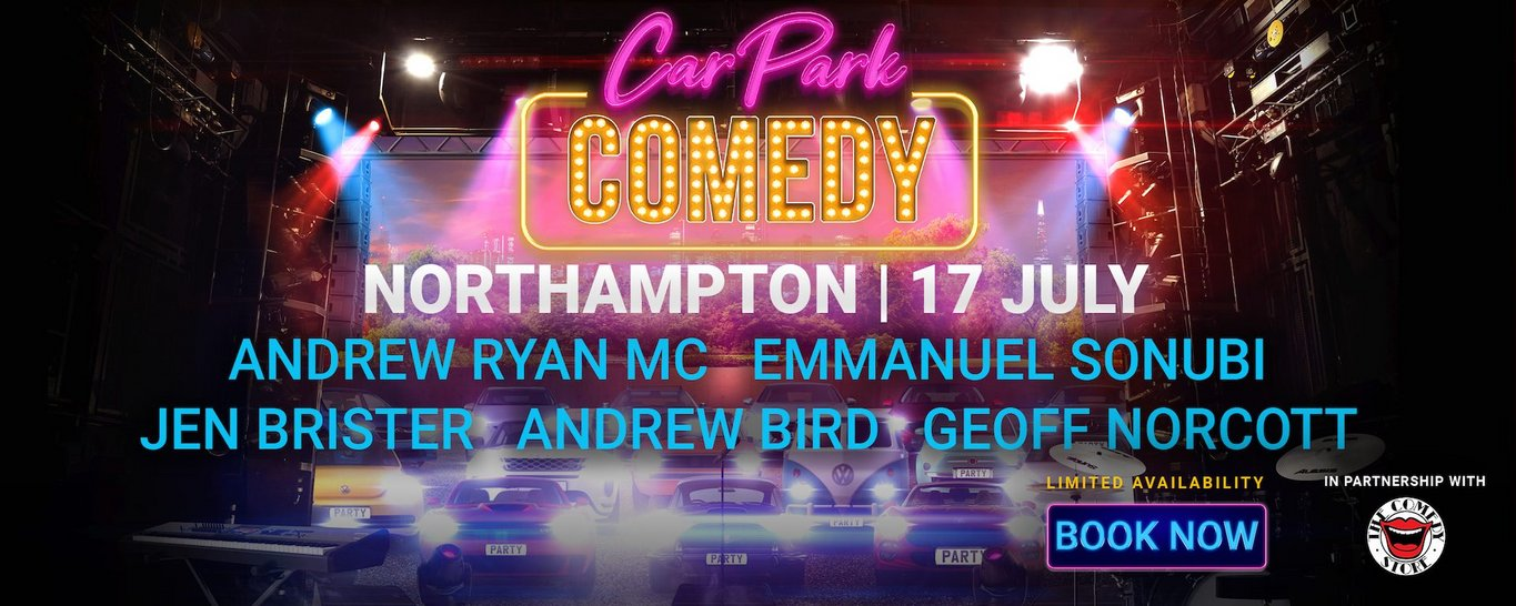 Car Park Comedy is coming to Franklin's Gardens in Northampton
