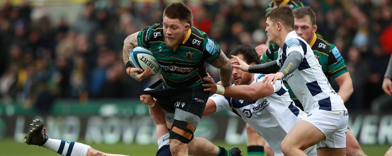 Northampton Saints' Teimana Harrison