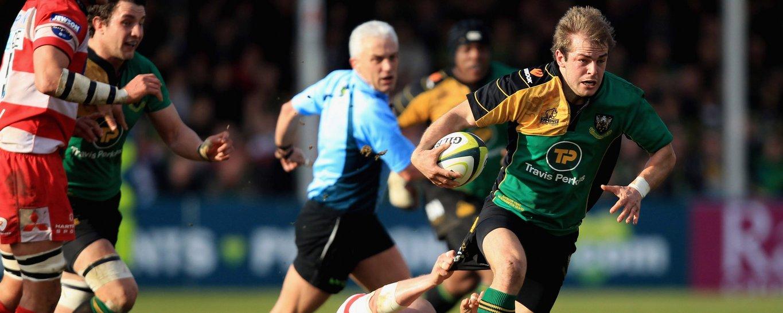 Stephen Myler carries the ball