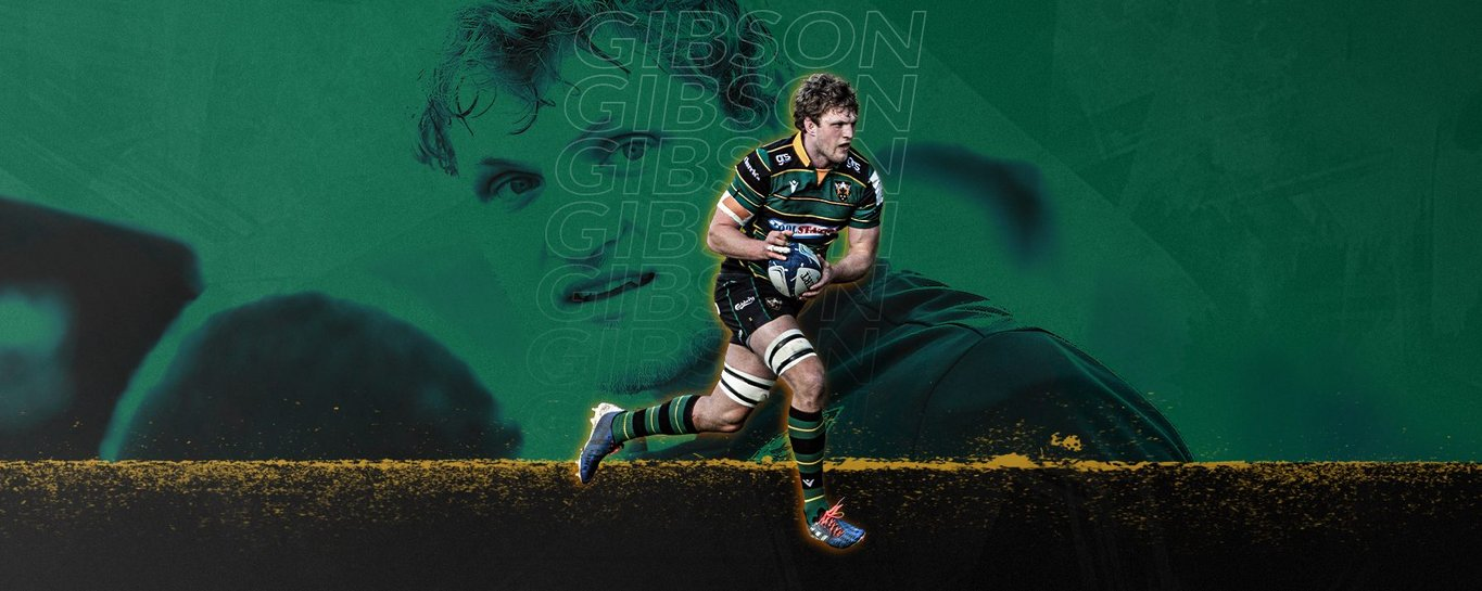 Jamie Gibson has re-signed for Northampton Saints