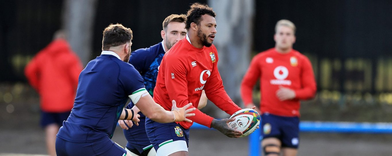 Courtney Lawes trains for the British & Irish Lions