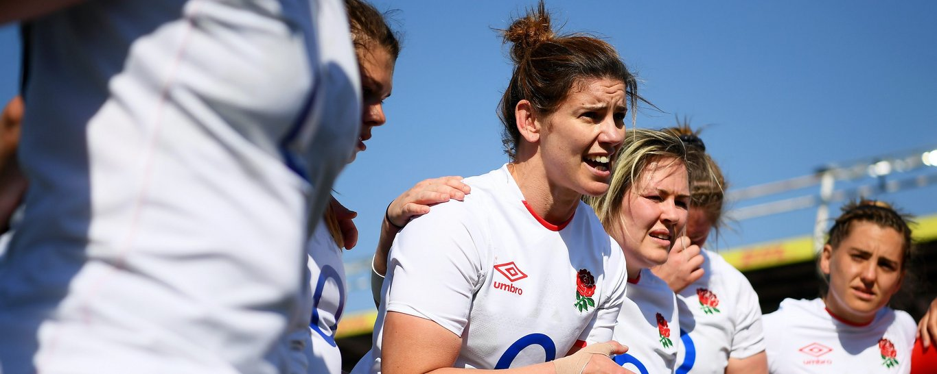 Loughborough Lightning's Sarah Hunter featuring for the Red Roses