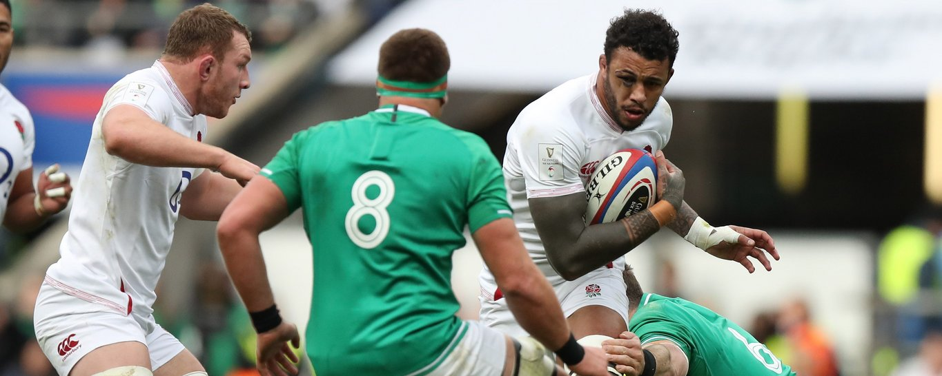 Courtney Lawes in action for England
