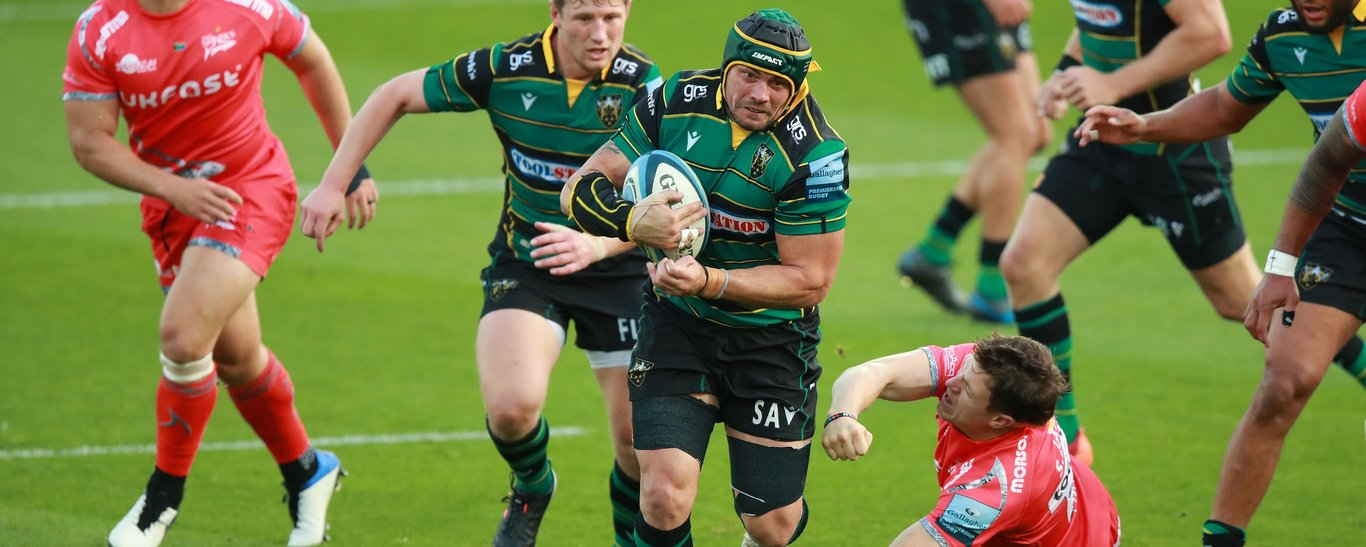 Northampton Saints' Shaun Adendorff