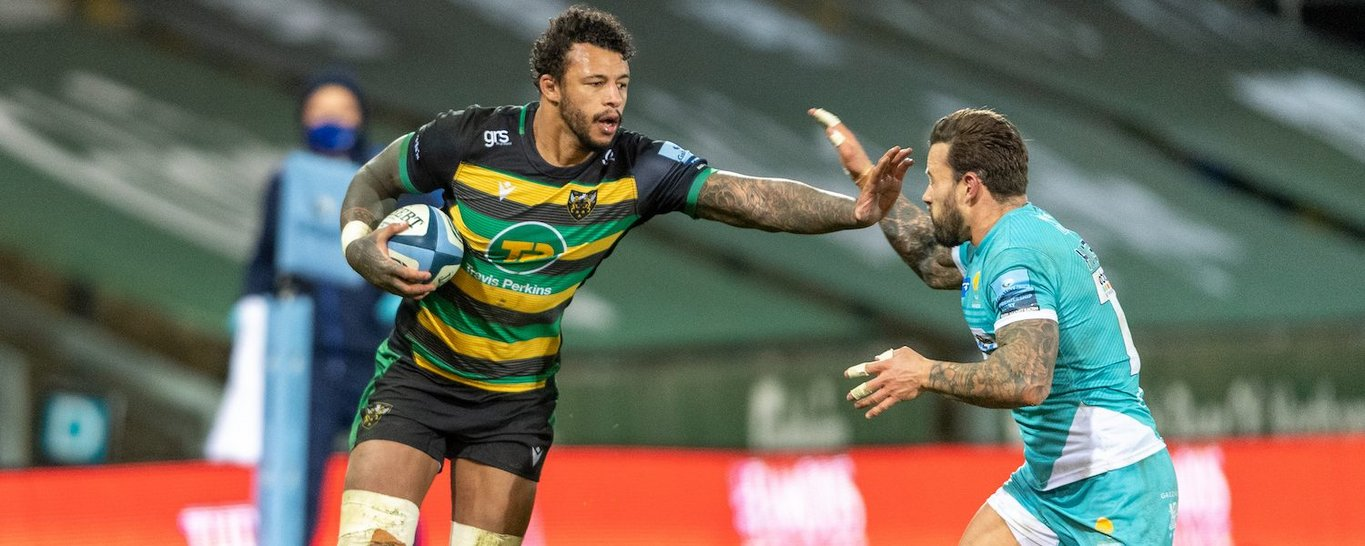 Courtney Lawes in action for Northampton Saints