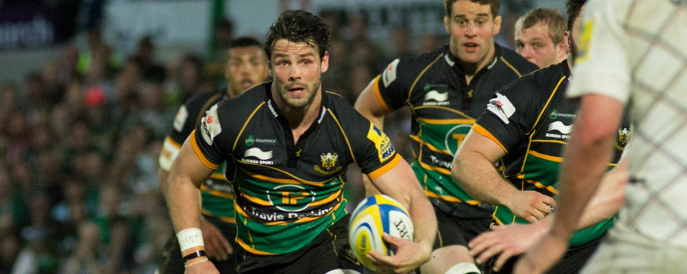 Northampton Saints' Ben Foden on the charge