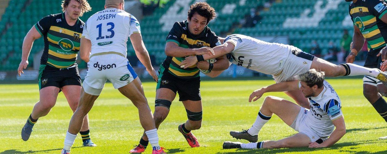 Lewis Ludlam of Northampton Saints against Bath