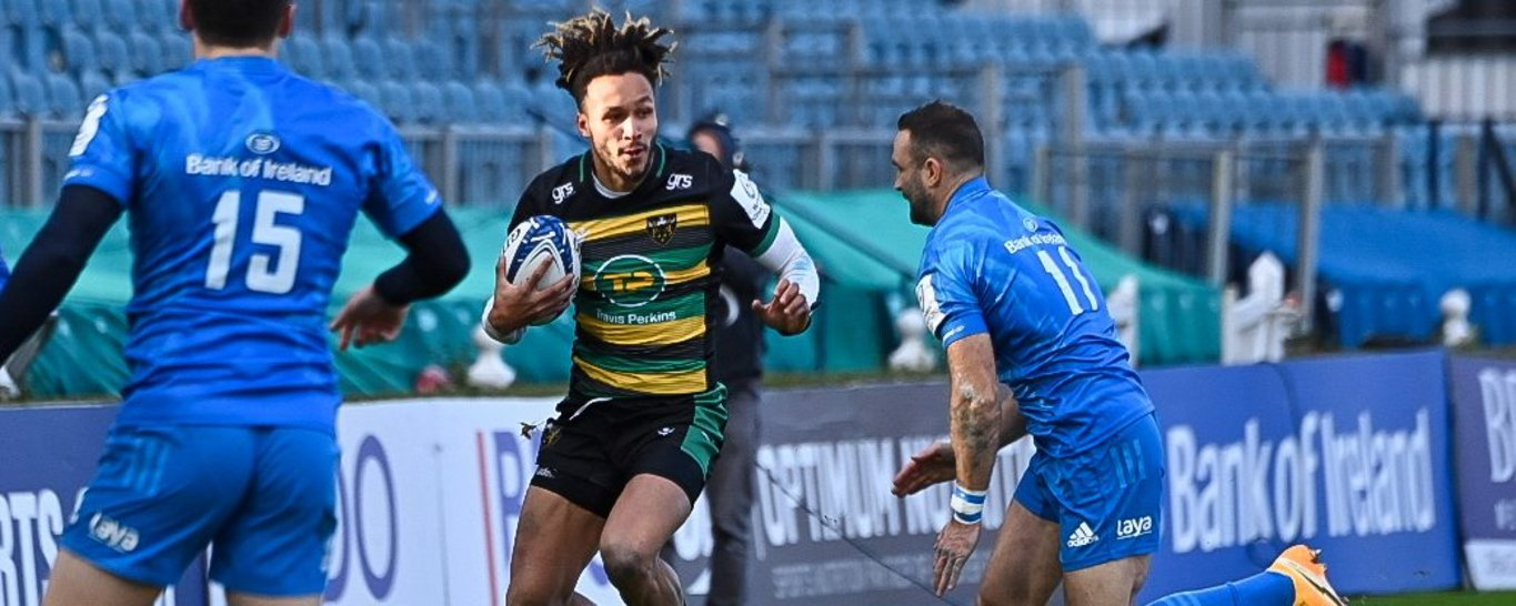 Ryan Olowofela in action for Northampton Saints