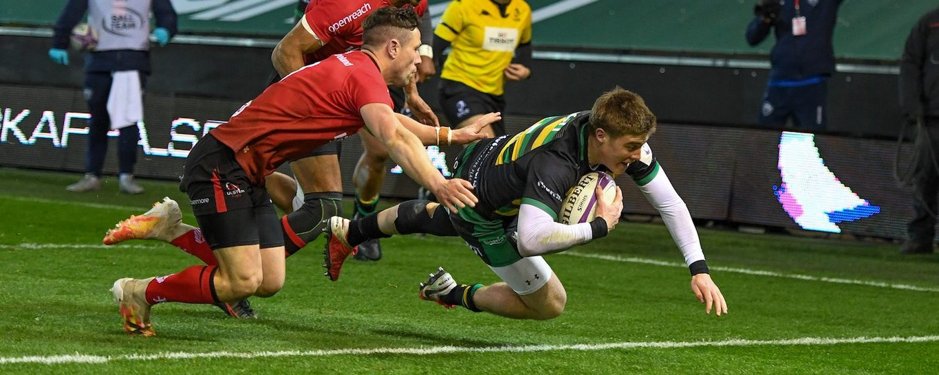 Tommy Freeman of Northampton Saints against Ulster
