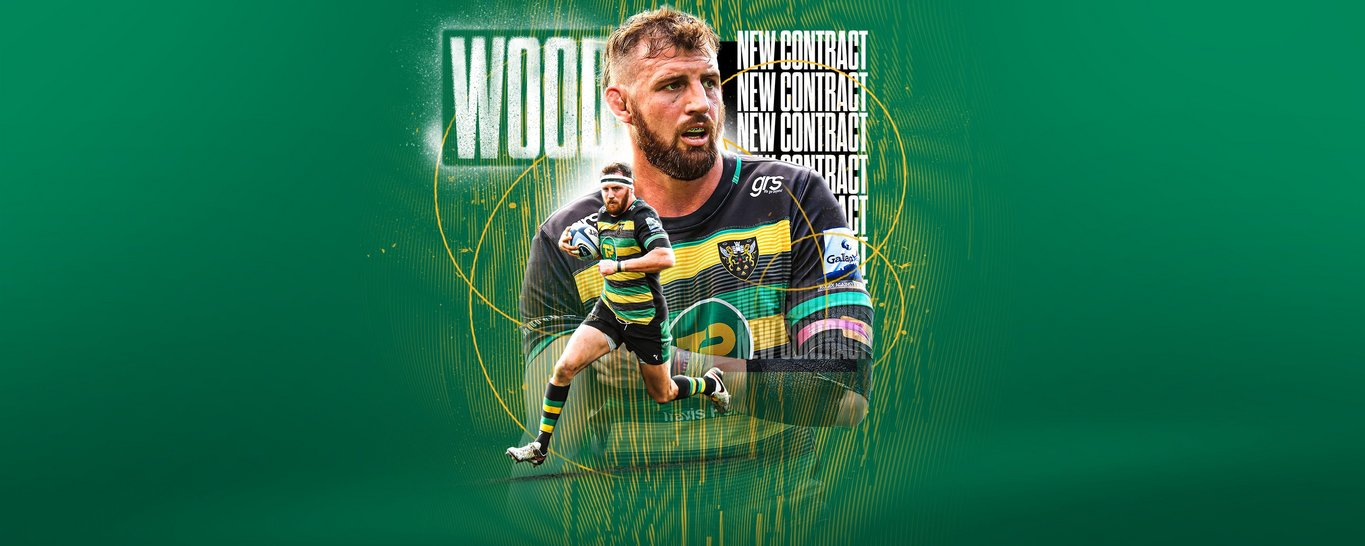 Tom Wood has signed a contract extension at Northampton Saints