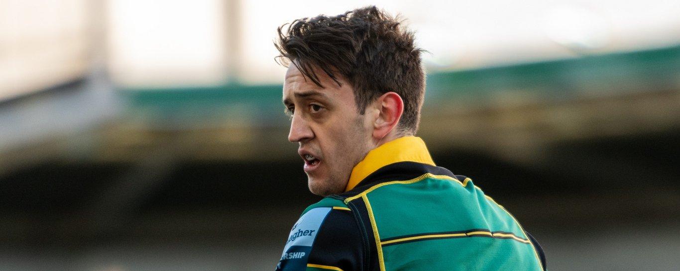 Northampton Saints scrum-half Alex Mitchell