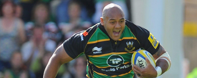 Soane Tonga'uiha on the rampage for Northampton Saints