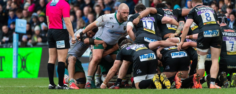 Owen Franks packs down at Exeter