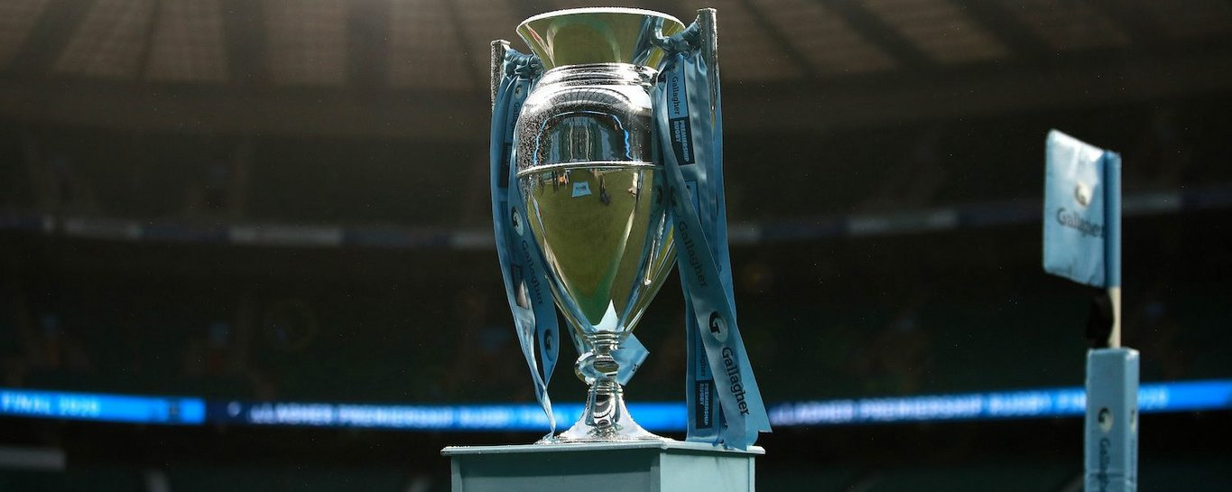 The Premiership Rugby trophy