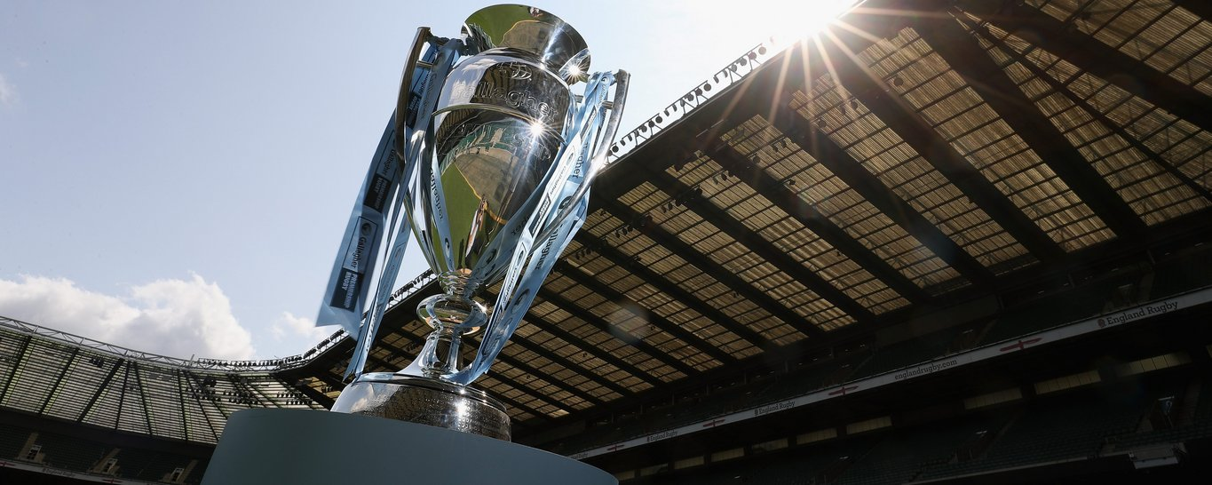 The Gallagher Premiership Rugby trophy