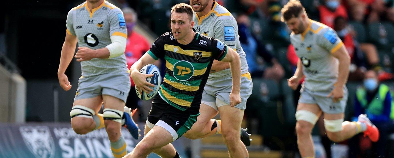 Saints' Tom James breaks free against Wasps