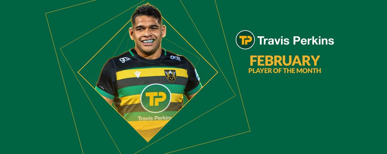 Northampton Saints' Sam Matavesi named Travis Perkins Player of the Month for February