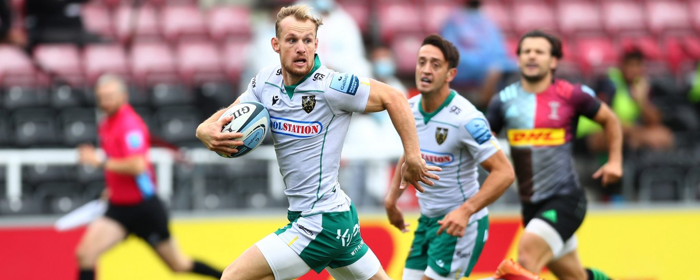 Rory Hutchinson scored for Northampton Saints