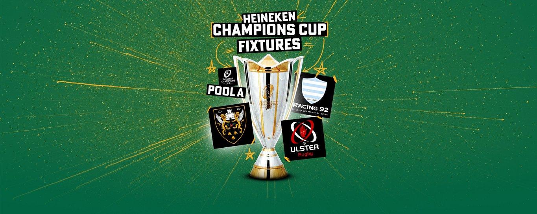 Northampton Saints' Heineken Champions Cup fixtures have been confirmed by EPCR.