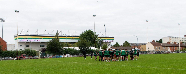 The Northampton Saints squad trains at Franklin's Gardens