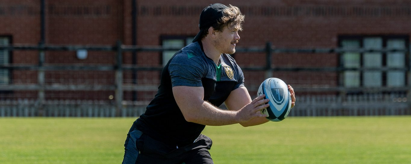Nick Auterac trains at Franklin's Gardens