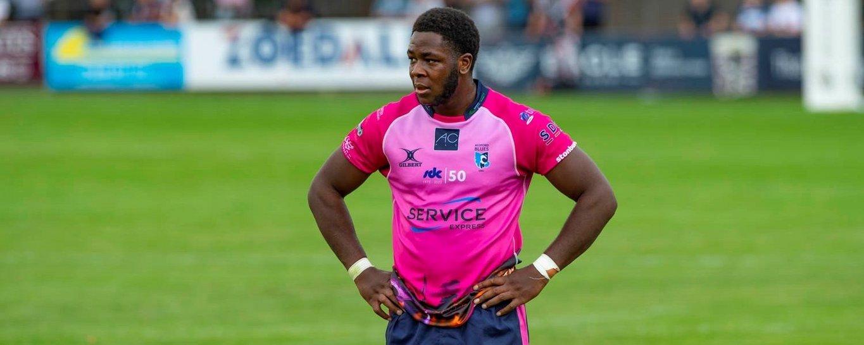 Manny Iyogun of Northampton Saints