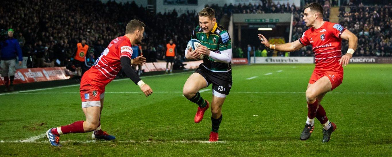 Fraser Dingwall scores for Northampton Saints