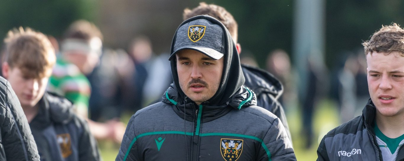 Northampton Saints Academy coach Will Parkin