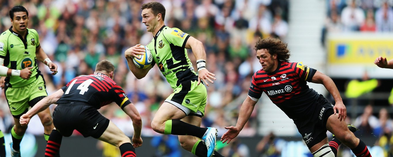 George North makes a break
