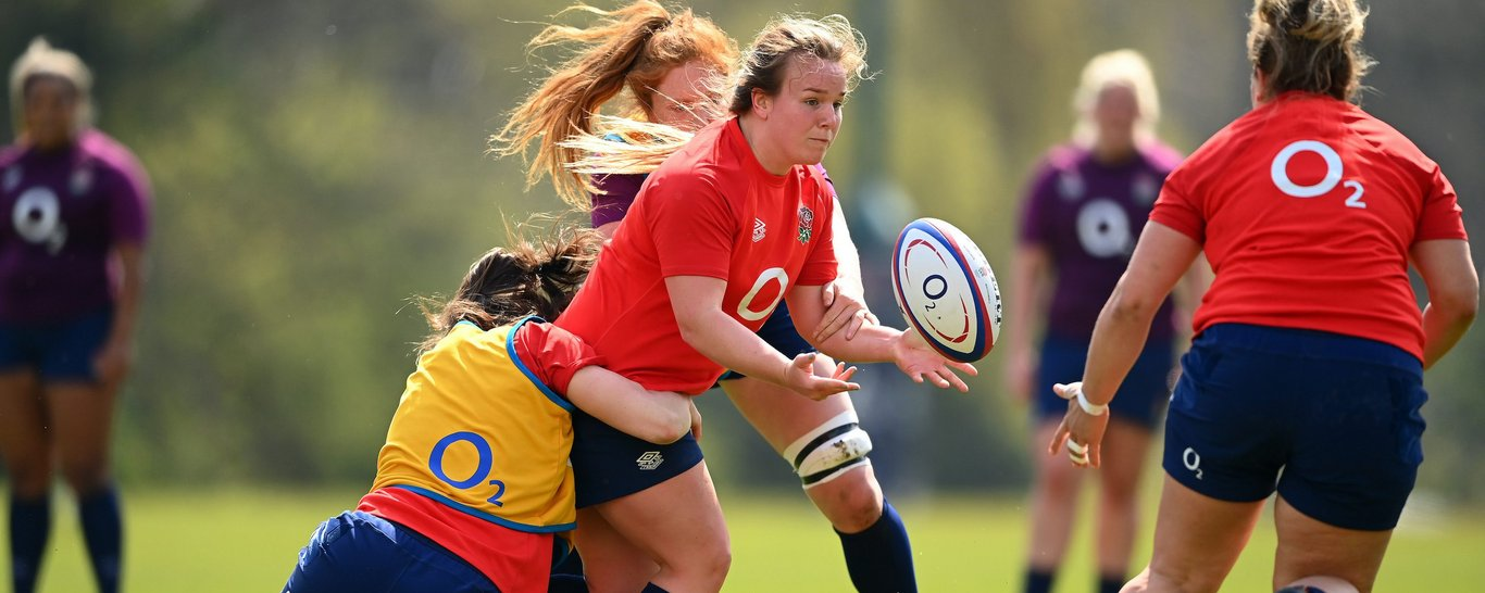 Loughborough Lightning's Lark Davies featuring for the Red Roses