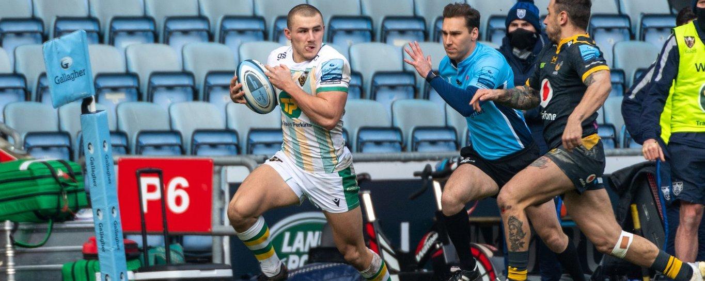 Ollie Sleightholme of Northampton Saints