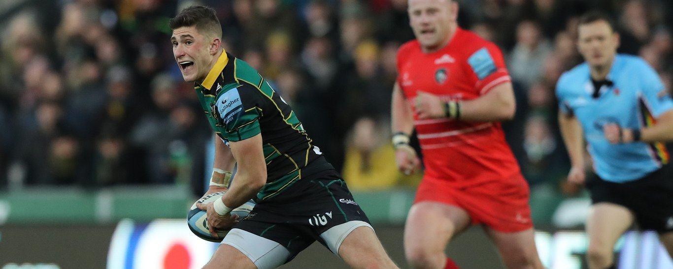 Northampton Saints' fly-half James Grayson