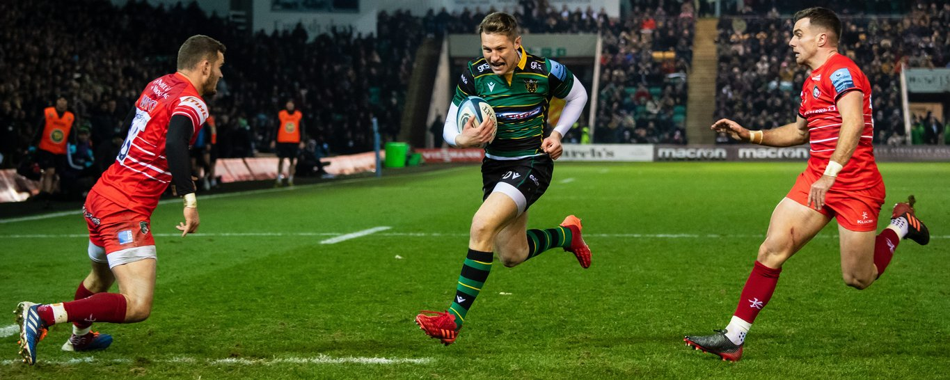 Fraser Dingwall in action for Northampton Saints