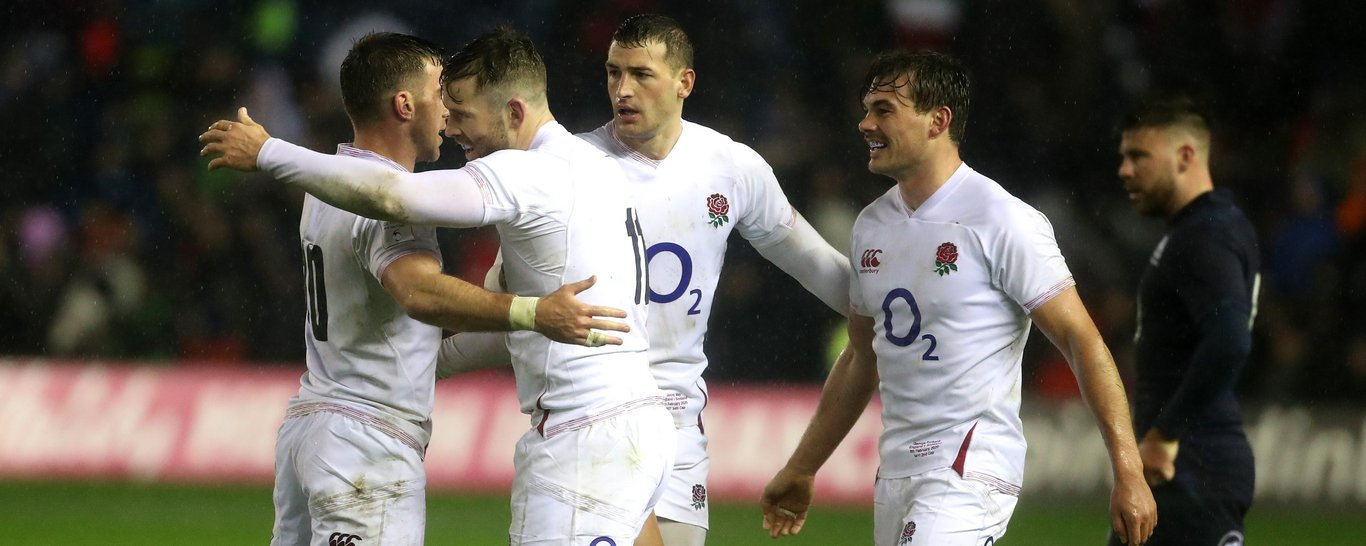 Saints' George Furbank in action for England