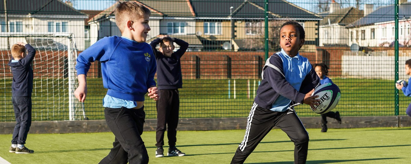 Saints community coaches deliver in schools across Northamptonshire