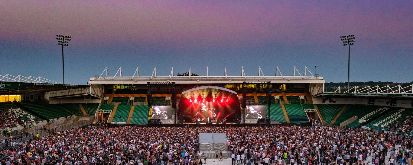 Franklin's Gardens often hosts the biggest acts in the world