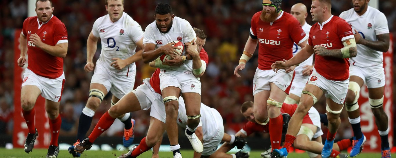 Saints' Lewis Ludlam in action for England